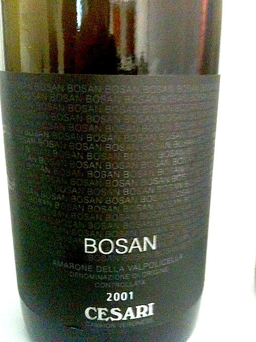Cesari Amarone della Valpolicella Bosan 2001