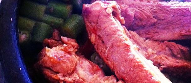 Menu de Baco – Costelinha de porco com quiabo