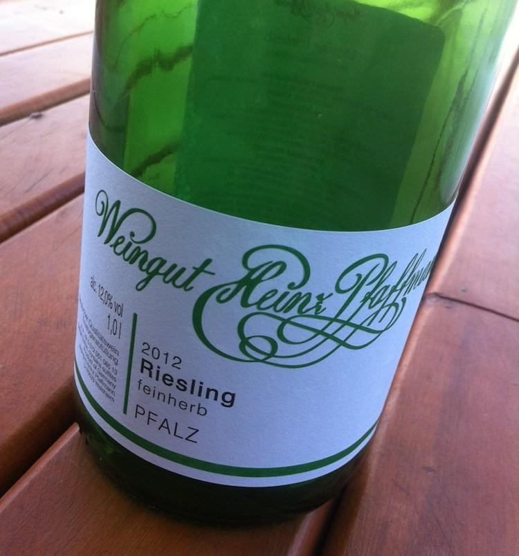 Weingut Heinz Pfaffmann Riesling Feinherb 2011 #cbe
