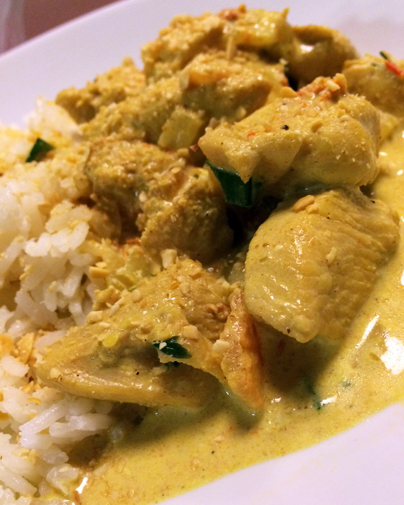 Menu de Baco – Frango ao Curry