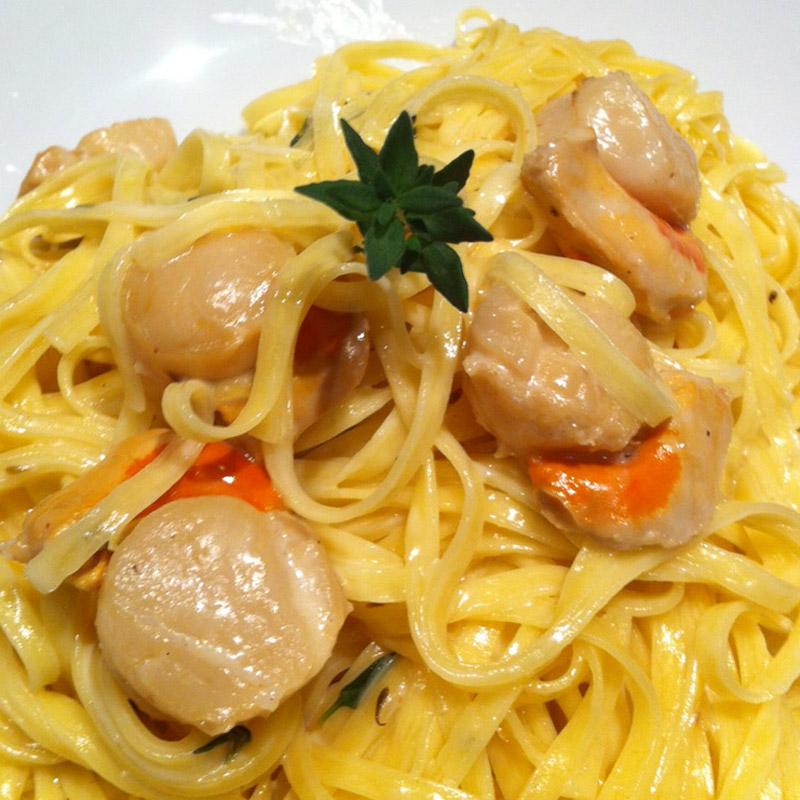 Menu de Baco – Linguini com Vieiras