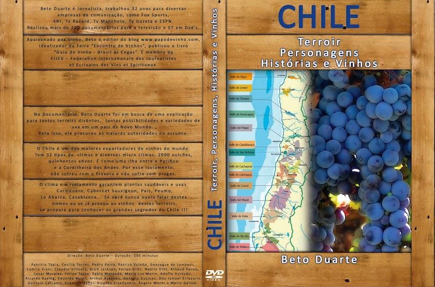 Documentário sobre o Chile: Terroir, Personagens, Histórias e Vinhos