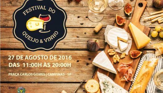Primeiro Festival do Queijo & Vinho de Campinas acontece sábado, dia 27 de Agosto